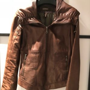 Lamb skin leather jacket